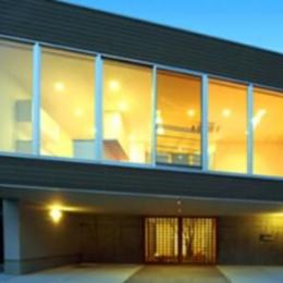『小倉南の家』茶室をもった、中庭のある家 (水平連続窓の家)