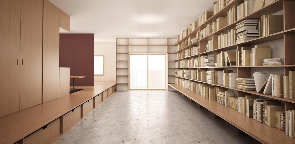 京智健「『artreno project』図書館のある住まい」