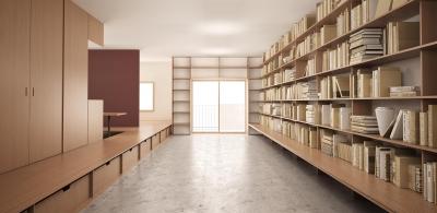 図書館のある住まい (『artreno project』図書館のある住まい)