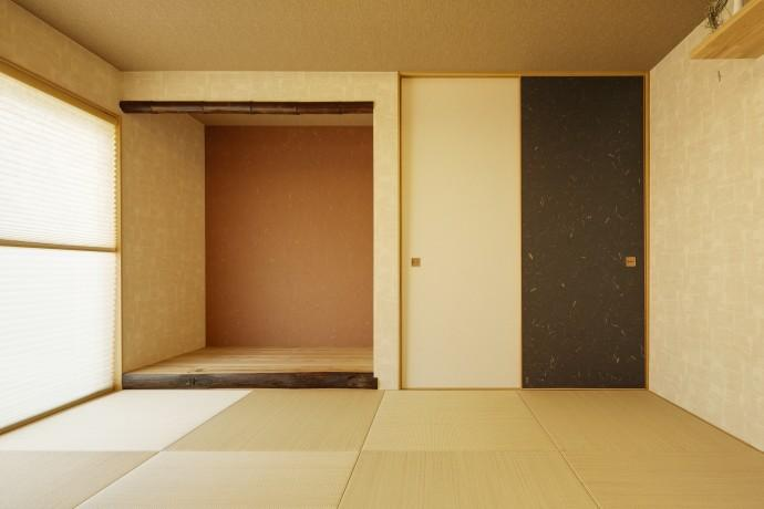 T邸・リゾートを訪れたような寛ぎ。開放感溢れる家の部屋 和モダンな和室