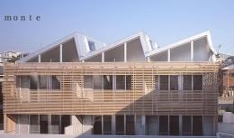 『monte』木×コンクリートのスタイリッシュな集合住宅 (monte-外観)