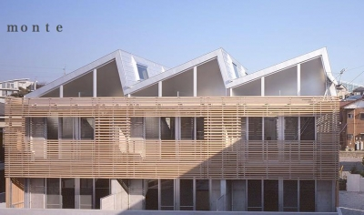 monte-外観 (『monte』木×コンクリートのスタイリッシュな集合住宅)