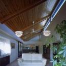 住宅作品4・勾配天井の寛ぎリビングがある住まい