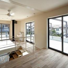 『樟葉美咲の家』屋上緑化と趣味の家 (2階アトリエと陶芸コーナー)