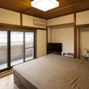開放的なベッドルーム