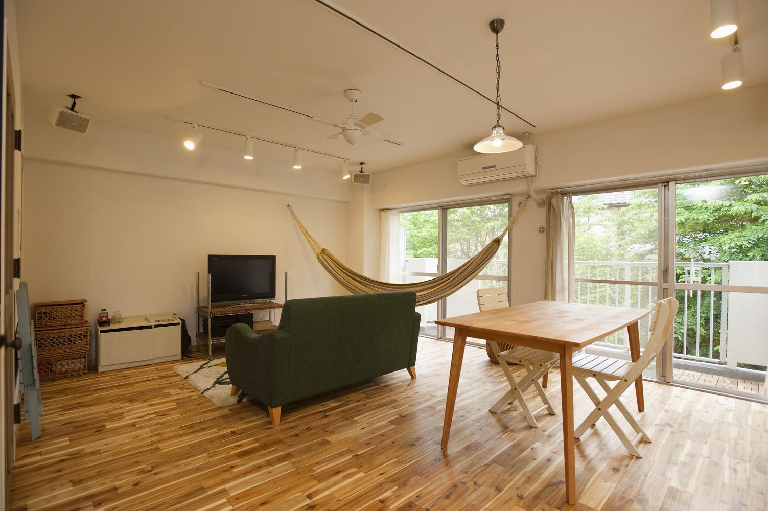 リフォーム・リノベーション会社:スタイル工房「H邸・ハンモックのゆれる、光と風のリビング」