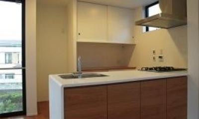 『U邸』階段がつなぐ家 (シンプルなオープンキッチン-1)