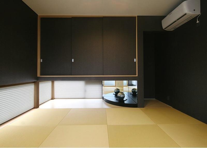 『A1-House』シンプルモダンなバリアフリー住宅の部屋 和モダンな和室