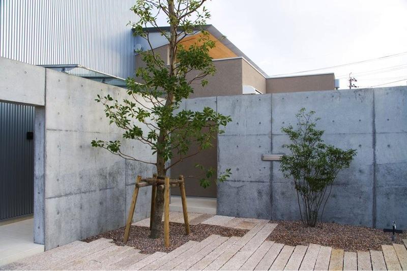 『K3-House』ペットと共に生き生きと暮らす住まいの写真 アプローチ-植栽