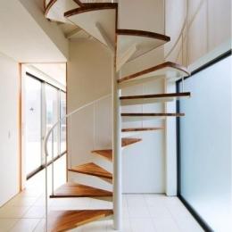 『K3-House』ペットと共に生き生きと暮らす住まい (スタイリッシュな螺旋階段)