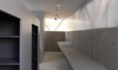 洗面カウンター-2|『VVV(フェーフェーフェー)』シンプルモダンな二世帯住宅