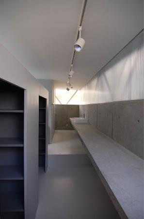 『VVV(フェーフェーフェー)』シンプルモダンな二世帯住宅の写真 洗面カウンター-2