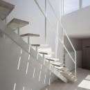 花田 順+花田 直子の住宅事例「『蛭根の丘』白基調のスタイリッシュな住まい」