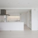 白で統一されたキッチン