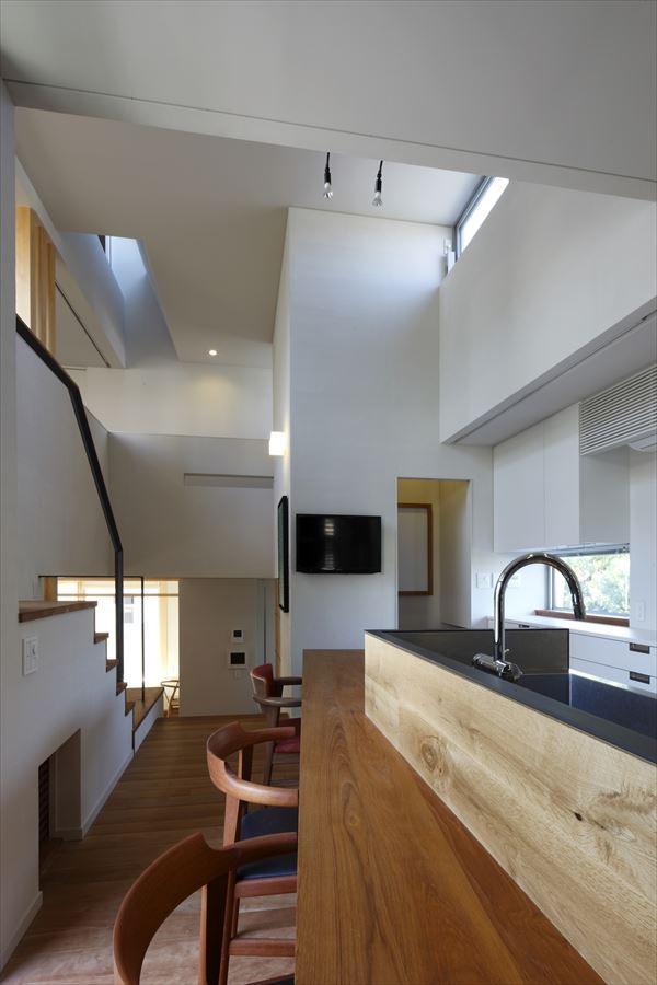 『多層一体の家』立体的ワンルーム空間の住まいの部屋 立体的ワンルーム空間