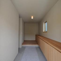 玄関-壁と天井は京じゅらく塗り