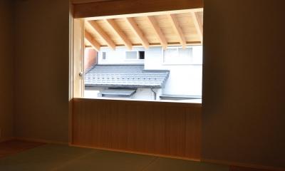 『那加の家』木の香りに満ちた和の住宅 (2階フリースペース)