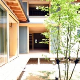 『那加の家』木の香りに満ちた和の住宅 (緑が映える開放的な中庭)
