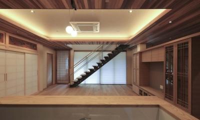 キッチンからの眺め|『TOMOIKI NO IE』こだわりいっぱい、和モダンな住宅