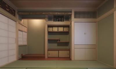 和室-床の間|『TOMOIKI NO IE』こだわりいっぱい、和モダンな住宅