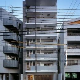 『Liverty Misasa』狭小地に建つデザイナーズマンション (狭小地に建つマンション-外観)