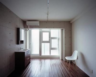 type a a'-大きな採光窓 (『Liverty Misasa』狭小地に建つデザイナーズマンション)
