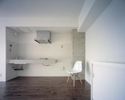 『Liverty Misasa』狭小地に建つデザイナーズマンション (type b b'-タイル壁のキッチン)
