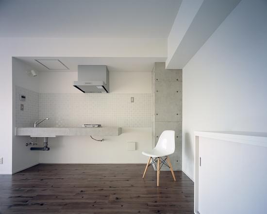 『Liverty Misasa』狭小地に建つデザイナーズマンションの部屋 type b b'-タイル壁のキッチン