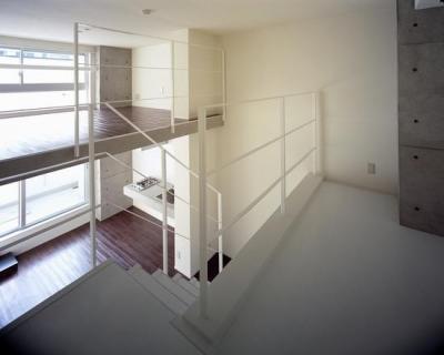 type M1-玄関からの眺め (『Liverty Misasa』狭小地に建つデザイナーズマンション)