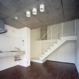 『Liverty Misasa』狭小地に建つデザイナーズマンション (type M1-ダイニングキッチン)