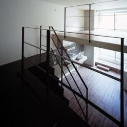 type M2-玄関からの眺め (『Liverty Misasa』狭小地に建つデザイナーズマンション)