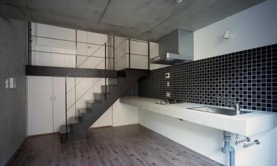 『Liverty Misasa』狭小地に建つデザイナーズマンション (type M2-クールなダイニングキッチン)