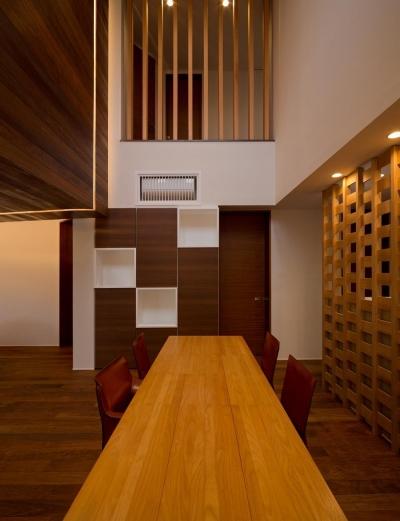 リビングダイニング (K9-house 「木と光の家」)