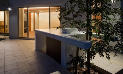 K9-house 「木と光の家」 (庭)