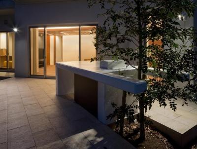 庭 (K9-house 「木と光の家」)