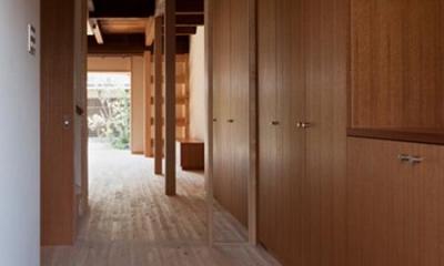 左京の町家/築100年以上の京町家をリノベーション (玄関よりLDK方向を見る)