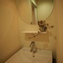 S-APARTMENT(リノベーション)の写真 丸鏡の洗面所