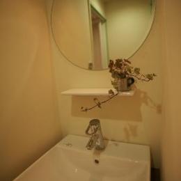 S-APARTMENT(リノベーション) (丸鏡の洗面所)