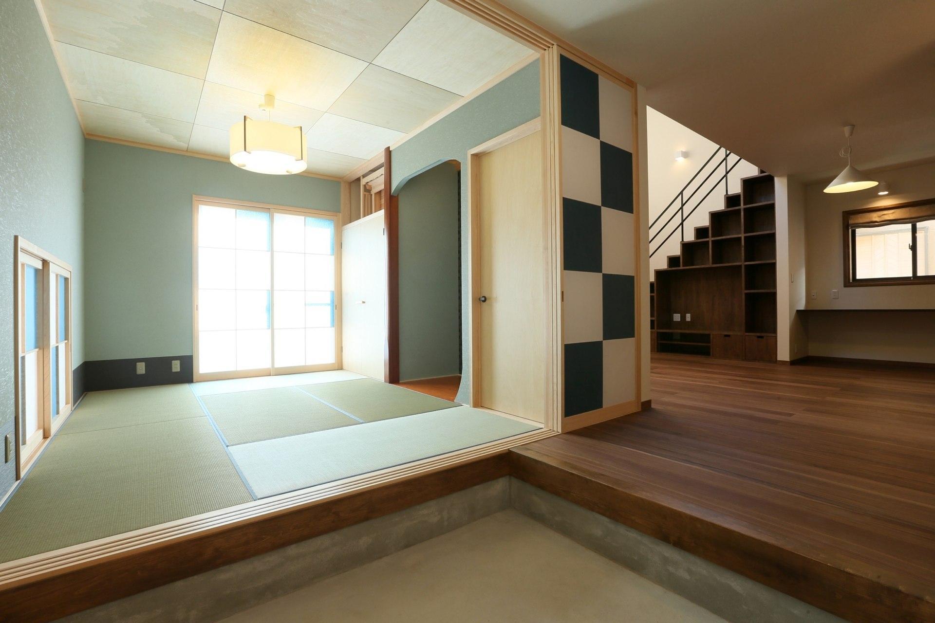 K's residenceの部屋 玄関土間と一体になる和室