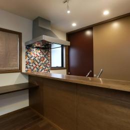 K's residence-オリエンタルなキッチン