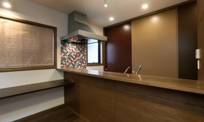 オリエンタルなキッチン|K's residence