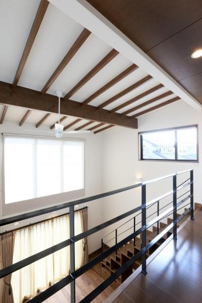 明るい吹き抜け空間 (K's residence)