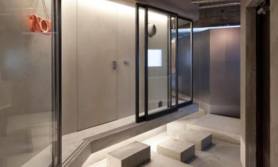 ドレスルームのあるコンクリートアパートメント (エントランス)