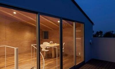 バルコニー-夜景|『よみうりランド前の家』仕事と主婦業の両立がしやすい住まい