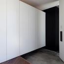 大容量の玄関収納
