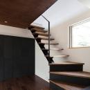 小野澤 裕子の住宅事例「『浅間町の家』黒と深みのある木目が調和する落ち着きのある空間」