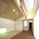 畳コーナーのある洋室