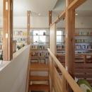 中央階段-正面は固定棚