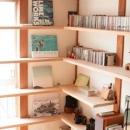 本がインテリアになる固定棚