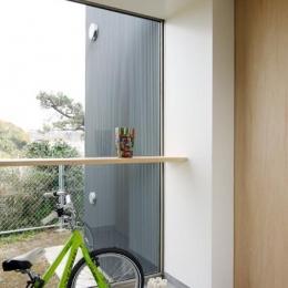 自転車が似合う玄関土間